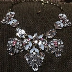 Huge Statement Necklace with rhinestones